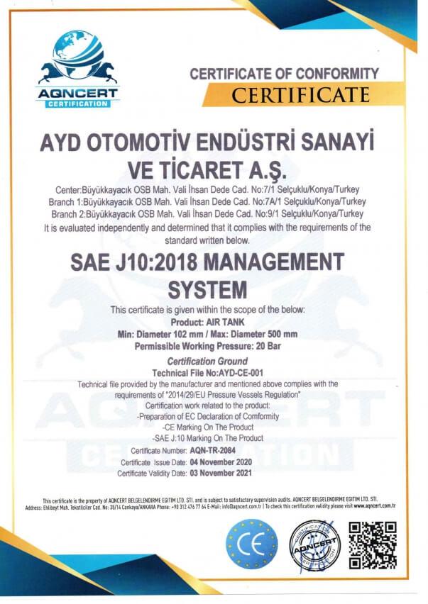 SAE J10:2018 MANAGEMENT SYSTEM